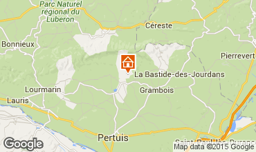 Map La Tour d'Aigues Villa 24563