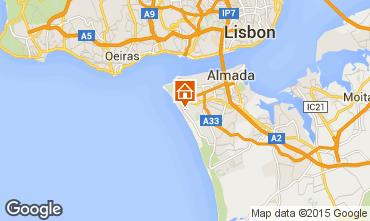 Map Costa de Caparica Apartment 52423
