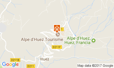 Map Alpe d'Huez Apartment 64