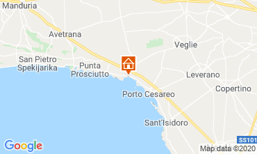 Map Porto Cesareo Apartment 104436