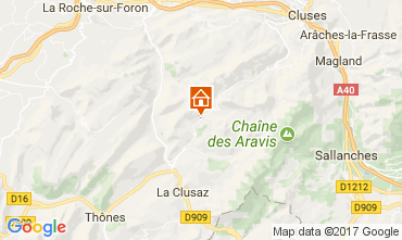 Map Le Grand Bornand Chalet 112003