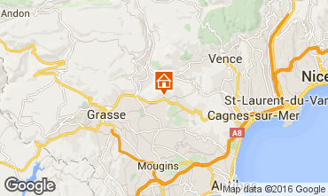Map Grasse Studio apartment 94327