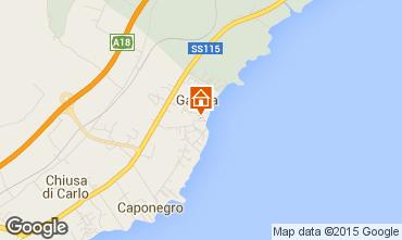 Map Avola Studio apartment 95898