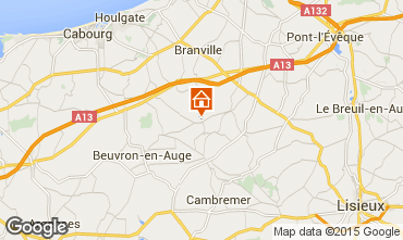 Map Deauville Self-catering property 16945