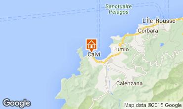 Map Calvi Apartment 60929