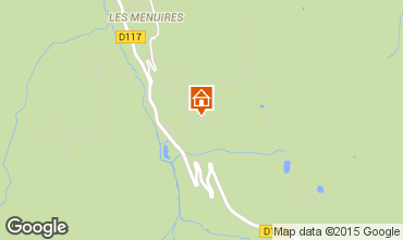 Map Les Menuires Studio apartment 92355