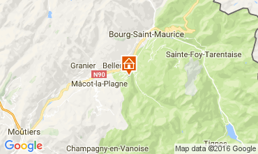 Map Montchavin les Coches Apartment 95029