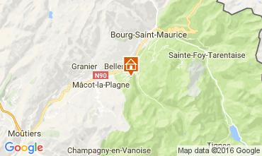 Map Montchavin les Coches Apartment 95029