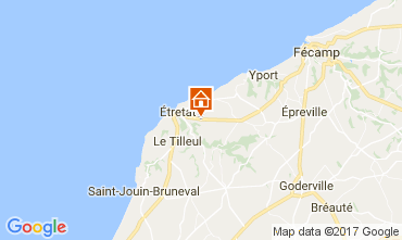 Map Etretat Offbeat accommodation 111631