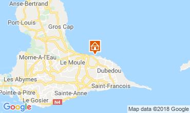 Map Le Moule Apartment 117382