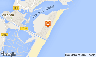 Map Gruissan-Plage Apartment 72902