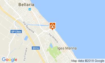 Map Bellaria Igea Marina Apartment 45702