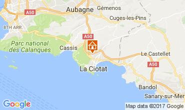 Map La Ciotat Apartment 88233