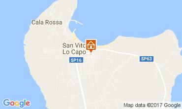 Map San Vito lo Capo Apartment 109302