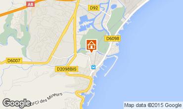 Map Mandelieu la Napoule Studio apartment 54445