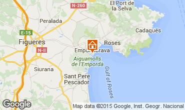Map Empuriabrava Studio apartment 94548