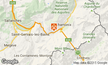 Map Chamonix Mont-Blanc Apartment 93214