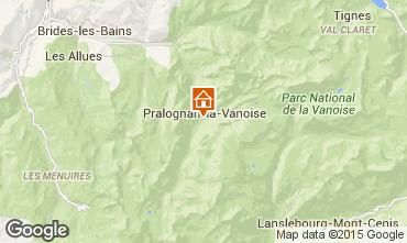 Map Pralognan la Vanoise Chalet 93579