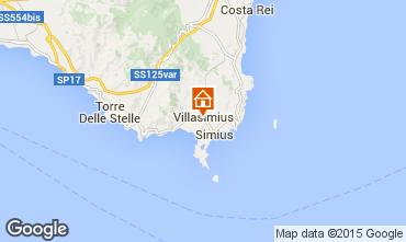 Map Villasimius Apartment 64239