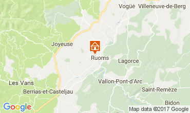 Map Vallon-Pont-D'Arc Self-catering property 112484