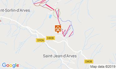 Map Saint Jean d'Arves Apartment 119843