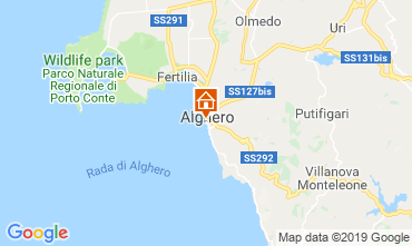 Map Alghero Apartment 114225