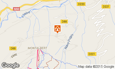 Map La Plagne Self-catering property 15732