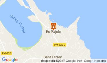 Map Es Pujols Studio apartment 108479