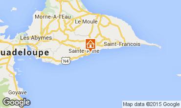 Map Sainte Anne (Guadeloupe) Apartment 14725