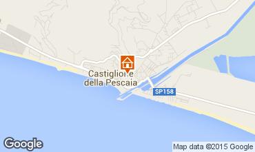 Map Castiglione della Pescaia Apartment 70019