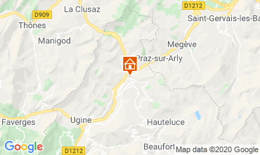 Map Les Saisies Studio apartment 112090