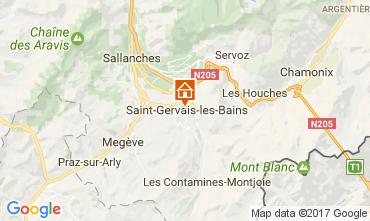 Map Saint-Gervais-les-Bains Apartment 108922