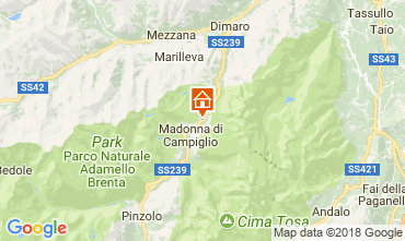 Map Madonna di Campiglio Apartment 101339