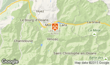 Map Les 2 Alpes Apartment 59362