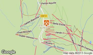 Map Les 2 Alpes Apartment 59362