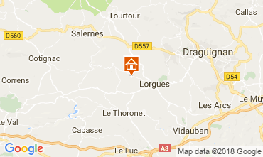 Map Lorgues Villa 115618