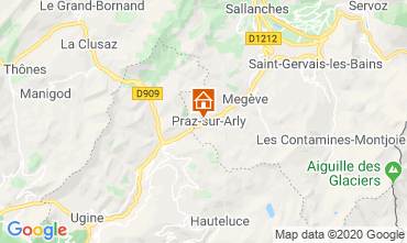 Map Praz sur Arly Apartment 62967