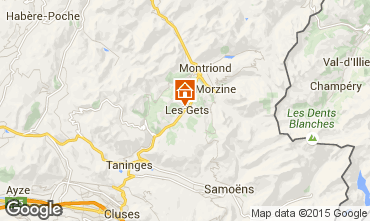 Map Les Gets Chalet 1353