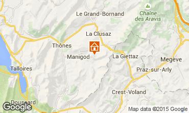 Map Manigod-Croix Fry/L'étale-Merdassier Studio apartment 77964