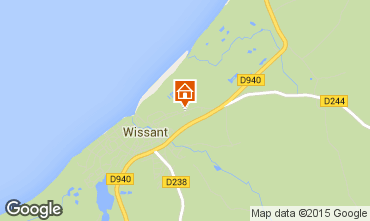 Map Wissant Self-catering property 8900