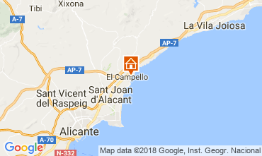 Map El Campello Apartment 113561