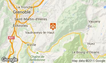 Map Chamrousse Studio apartment 763