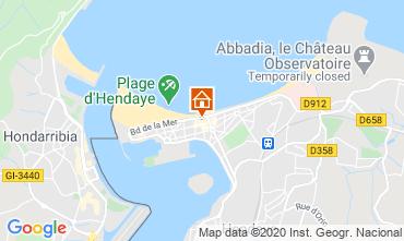 Map Hendaye Apartment 82386