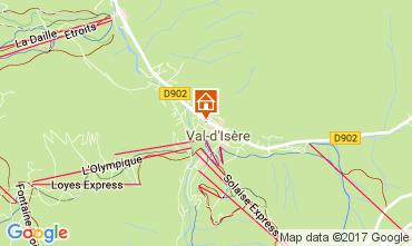 Map Val d'Isère Studio apartment 38836