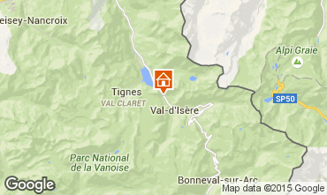 Map Val d'Isère Studio apartment 28190