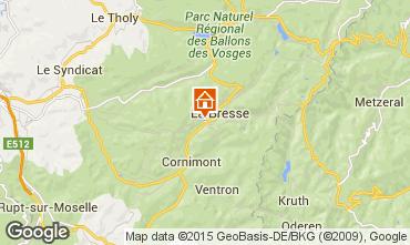 Map La Bresse Apartment 30998