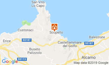 Map Scopello Apartment 80627