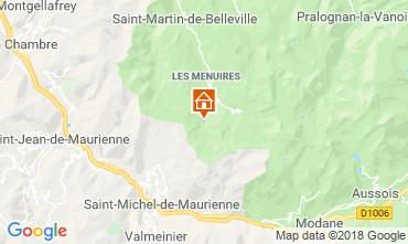Map Les Menuires Studio apartment 1628