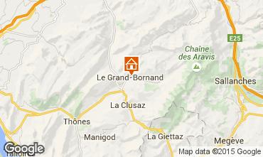 Map Le Grand Bornand Apartment 1364