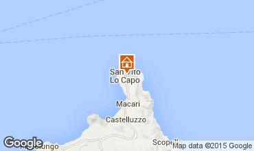 Map San Vito lo Capo Studio apartment 101712